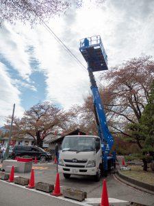 昨年公表だった高所作業車沼田城体験を今年も行いました